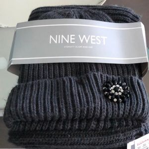 NWT Nine West Eternity Scarf and Hat Set